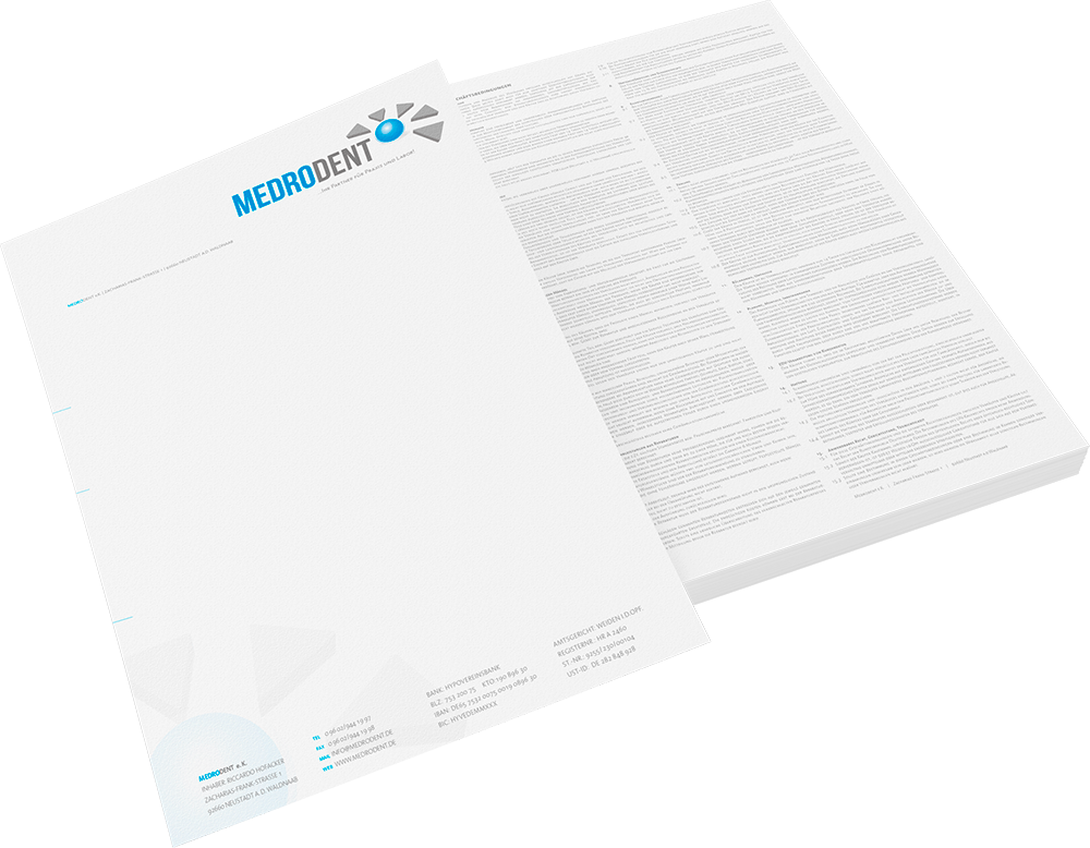 Corporate Design | Medrodent | Briefpapier