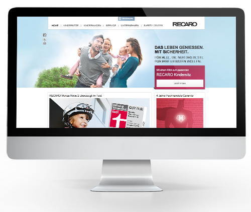 Webdesign - RECARO Child Safety