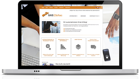 Webdesign - SAS-Softec GmbH